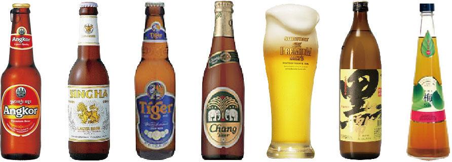 神楽坂バイヨン、パーティコース、カンボジアビール